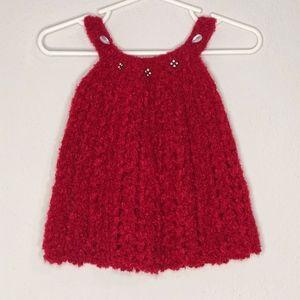fuzzy crochet dress